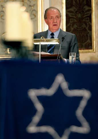 His Majesty the King Juan Carlos I at the Holocaust Remembrance Day ceremony in 2006.